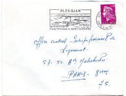 COTES Du NORD - Dépt N° 22 = PLEUBIAN 1968 = FLAMME Codée = SECAP Illustrée D'un PHARE 'SILLON De TALBERT' - Annullamenti Meccanici (pubblicitari)