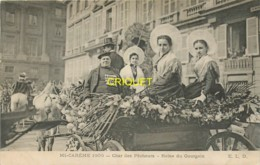 62 Calais, Mi-Carême 1906, Char Des Pêcheurs, Reine Du Gourgain - Calais