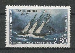 SPM MIQUELON 1994 N° 598 ** Neuf MNH Superbe C 1.60 € Bateaux Navire Hôpital Sailboats Ships Peintures Paintings - Neufs