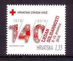 Croatia 2018 Y Charity Stamp Solidarity Week MNH - Kroatië