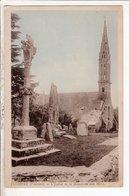 Cpa Polzevet L Eglise Et Le Monument Aux Morts - Plozevet