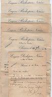 VP15.398 - 1912 / 14 - Lot De Lettres Concernant Me E.RICHEPIN Notaire à SOISSONS & Mr DESATY à VAUXROT ( CUFFIES ) - Vieux Papiers