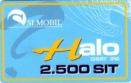 Carte Prepaid SI.MOBIL Slovenia Halo 2.500 SIT - Slovenia
