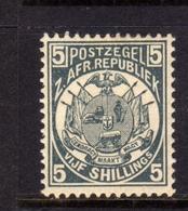 TRANSVAAL Zuidafrikaansche Republiek 1885 1893 COAT OF ARMS STEMMA ARMOIRIES SHILLING 5sh MNH - Sud Africa (...-1961)