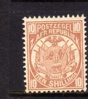 TRANSVAAL Zuidafrikaansche Republiek 1885 1893 COAT OF ARMS STEMMA ARMOIRIES SHILLING 10sh MNH - Sud Africa (...-1961)
