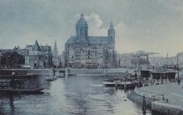 376847Amsterdam, Pr. Hendrikkade Met Trams. (poststempel 1905) - Amsterdam
