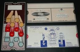 Lot De 3 Règles à Calculer De Calcul, Industrie Métallurgie OmarO MAR Abaque - Sciences & Technique