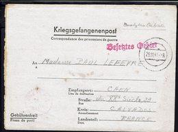 Fr - Prisonniers De Guerre - Oflag VI A à Soest - Gepruft - Correspondance Pour Caen Du 19-11-1941  B/TB - - Storia Postale