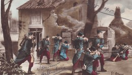 "MILITARIA. GUERRE14-18 PATRIOTIQUE.  "" L'ATTAQUE DU VILLAGE "". TEXTE DU 18/05/ 1915 - Guerra 1914-18"