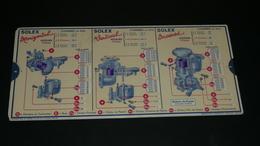 Rare Ancienne Règle à Calculer De Calcul, Carburateur SOLEX, OmarO MAR Garage Abaque - Autres