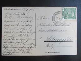 KARTE Bahnpost Zugstempel Hölak - Trencsenteplics - Ung. Hradisch Nr. 424 - Litomysl 1912 // D*39168 - 1850-1918 Imperium