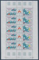 TAAF 1988  Géologie En Antarctique :  Feuille Complète Avec Coin Daté Du Triptyque N°YT 139A ** MNH - Nuevos