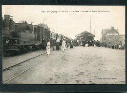 CPA - ST QUAY - La Gare - Arrivée Du Train De Guingamp - Train En Gare, Très Animé - Saint-Quay-Portrieux