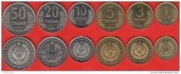 Uzbekistan Set Of 6 Coins: 1 - 50 Tiyin 1994 UNC - Uzbekistan
