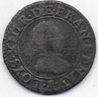 LOUIS XIII  Double Tournois  1615 A - 1610-1643 Louis XIII Le Juste