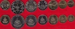 Vanuatu Set Of 7 Coins: 1 - 100 Vatu 2002-2010 UNC - Vanuatu