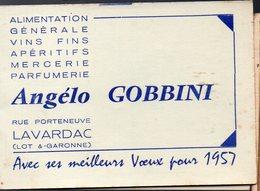 Lavardac (47 Lot Et Garonne) Calendrier ANGELO GOBBINI 1957  (PPP19008) - Calendarios