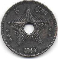 CONGO BELGE - 5 C  1888 - Congo (Belge) & Ruanda-Urundi