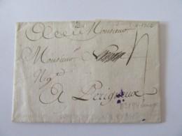 Préphilatélie 18e - Lettre Limoges Vers Périgueux - Taxe Manuscrite - 1762 - 1701-1800: Précurseurs XVIII