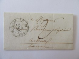 Lettre Gandelu Vers Meaux - Cachet Type 13 + Taxe Manuscrite - 1837 - Marcophilie (Lettres)