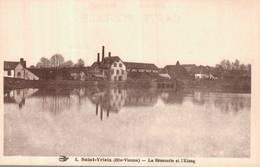 Cpa SAINT-YRIEX - La Brasserie De L'Etang. - Saint Yrieix La Perche