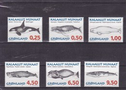 GROENLAND :mammifères Marins : Y&T : 266** à 271** - Groenland