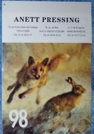 Petit Calendrier De Poche 1998 16 Pages Chasse Renard Lièvre Sanglier Chien Chrvreuil Faisan - Calendarios