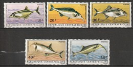 CENTRAFRIQUE -  N° 143/7  ** (1971) Poissons - Central African Republic