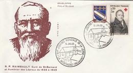 REUNION Yvert 362 + 346A Cachet Illustré Journée Mondiale De La Lèpre La Montagne 31/1/1965 Sur Lettre - Pli à Gauche - Storia Postale