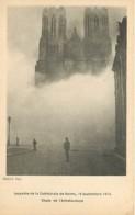 51 - Reims - Incendie De La Cathédrale De Reims, 19 Septembre 1914 - Chute De L'échafaudage - Animée - Voir Scans Recto- - Reims