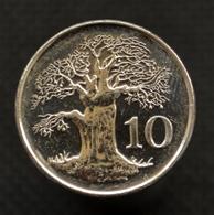 Zimbabwe 10 Cents 2002. Africa Coin . UNC. KM3a. Plant Trees. - Zimbabwe