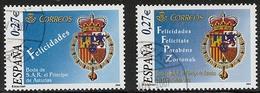 2004- ED. 4083 Y 84 -SERIE COMPLETA -BODA DE S.A.R.EL PRÍNCIPE DE ASTURIAS CON Dª LETIZIA-USADO - 1931-Hoy: 2ª República - ... Juan Carlos I