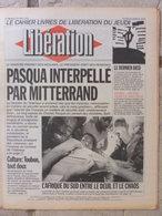 Journal Libération (15 Avril 1993) Pasqua/Mitterrand - Rabin/Palestiniens - Sachsenhausen - Dissidents De La FEN - Zeitungen
