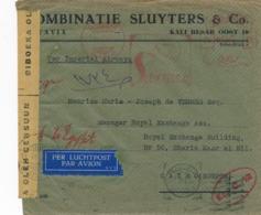 Nederlands Indië - 1941 - 95 Cent Roodfrankering Sluyters, Machine 43 Op 2x Censored Cover Batavia Naar Cairo / Egypt - Niederländisch-Indien