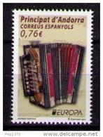 ANDORRA ESPAÑOLA 2014 - EUROPA - ACORDEON - 1 SELLO - Andorra Española
