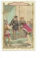 Chromo Roi De France Charles IX Nouveau Calendrier Grégorien TB  Didactique Au Dos 2 Scans - Andere