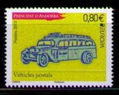 ANDORRA FRANCESA 2013 - EUROPA - VEHICULO POSTAL - 1 SELLO - Andorra Francesa