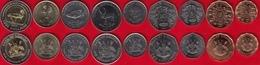 Uganda Set Of 9 Coins: 1 - 1000 Shillings 1987-2012 UNC - Uganda