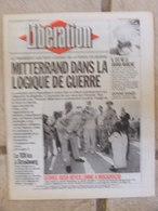 Journal Libération (1er Janv 1993) Emploi Force Bosnie - An 01 Marché Européen - Le Fichier Juif - Bashung - Zeitungen