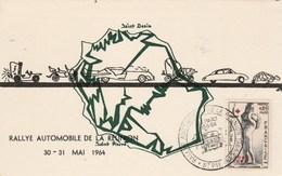 REUNION Yvert 357 Cachet Illustré Rallye Automobile De La Réunion Départ St Pierre 30/5/1964 Sur Carte Illustrée - Réunion (1852-1975)