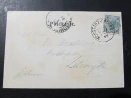 KARTE Bahnpost Zugstempel Konstanz - Bregenz 1900 // D*39179 - Brieven En Documenten