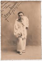Photo Originale Dédicace Autographe Signature Ténor Opéra Comique Georges GENIN Par Aicard Marseille - Fotos Dedicadas