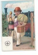 Chromo Champagne Mousseux EPERNAY MARNE Foie Gras De Strasbourg As De Trèfle 115 X75 Bien 2 Scans - Autres