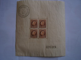 BELGIQUE - Bloc N°1 - Très Frais - Gomme D'origine Légèrement Craquelée Et Trace De Charnière Hors Timbres Imperceptible - Blocs 1924-1960