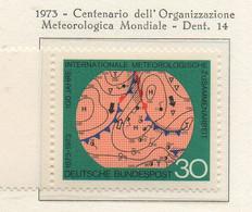 PIA - GERMANIA - 1973 : Centenario Dell' Organizzazione Metereologica Mondiale   -   (Yv 610) - Clima & Meteorologia