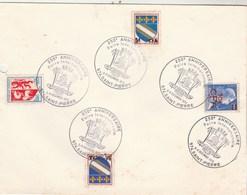 REUNION Yvert 337 + 346A X2 + Blason Auch Timbre France Sur Lettre Cachet Illustré  Foire Internationale St Pierre 1970 - Réunion (1852-1975)