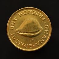 Ghana 1 Cedi 1984 Km25 Uncirculated. Africa Animal Coin - Ghana