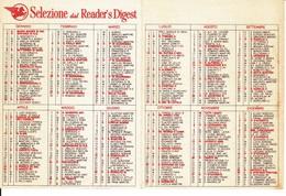 CALENDARIETTO SELEZIONE READERS DIGEST 1983. - Formato Piccolo : 1981-90