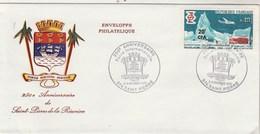 REUNION Yvert 380 Sur Lettre Cachet Illustré  Foire Internationale St Pierre 1970 - Storia Postale