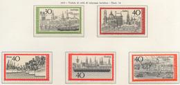 PIA - GERMANIA  - 1973  : Turismo - Vedute Di Città Di Interesse Turistico - (Yv 611-12 + 636-38) - Vacanze & Turismo